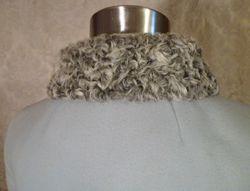 Vintage Zeller's Furs 1960's Baby Blue Car Coat Silver-Gray Persian Lamb Fur Collar & Cuffs (11)