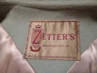 Vintage Zeller's Furs 1960's Baby Blue Car Coat Silver-Gray Persian Lamb Fur Collar & Cuffs (1)