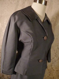 1940s vintage Youthmore Original Silver Gray Suit  (10)