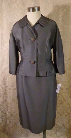 1940s vintage Youthmore Original Silver Gray Suit  (5)