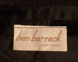 1960s Vintage Ben Barrack black flocked velvet gown (2)