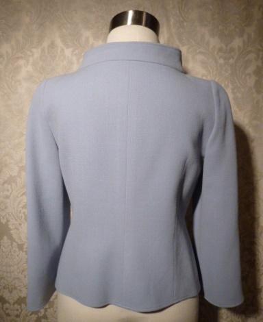 Armani Collezioni Assymetric Steel Blue Wool Jacket Blazer (4)