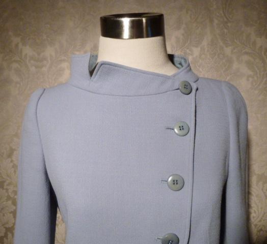 Armani Collezioni Assymetric Steel Blue Wool Jacket Blazer (2)