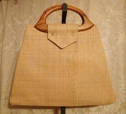 Vintage 1960s Mister Ernest Simon straw beach market bag  tutti frutti design (3)