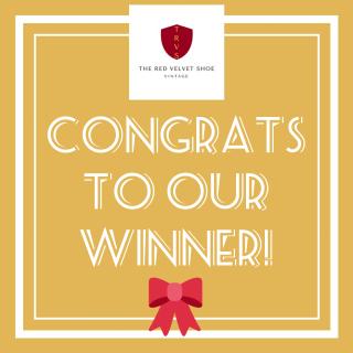 Giveaway winner the red velvet shoe jan 2018