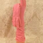 1960's Vintage Fownes Embraceable Bubble Gum Pink Ruched Gloves (3)