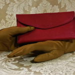 Vintage 1960s 70s surrealist hand clasp red leather wallet made in florence italy  (6)