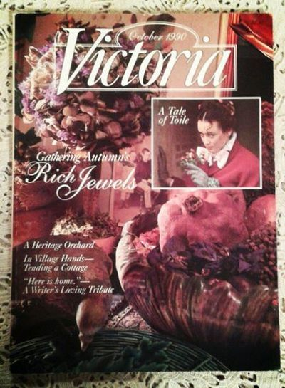 October 1990 victoria magazine issue cover