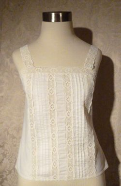 Vintage 1970s Ivory Lace Bohemian Love Camisole Top by Deena (3)
