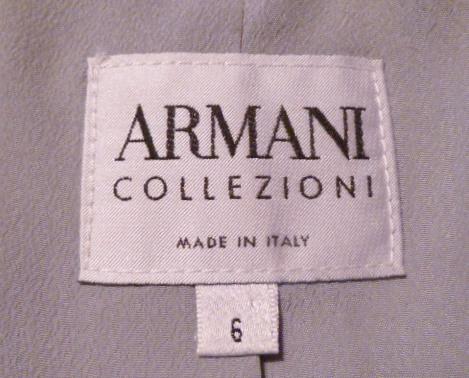Armani Collezioni Assymetric Steel Blue Wool Jacket Blazer (1)