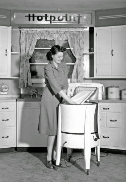 Vintage housewife laundry washing