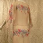 1930s Crepe Chiffon Floral Tea Gown Vintage Dress (6)