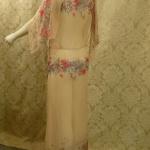 1930s Crepe Chiffon Floral Tea Gown Vintage Dress (5)
