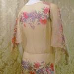 1930s Crepe Chiffon Floral Tea Gown Vintage Dress (7)
