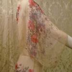 1930s Crepe Chiffon Floral Tea Gown Vintage Dress (8)