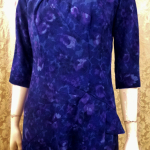 1950s Alix of Miami purple floral fitted bombshell wiggle  dress  (5)