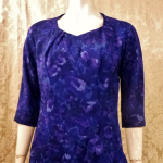1950s Alix of Miami purple floral fitted bombshell wiggle  dress  (7)