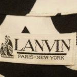 Vintage Lanvin Paris New York 1970s Label