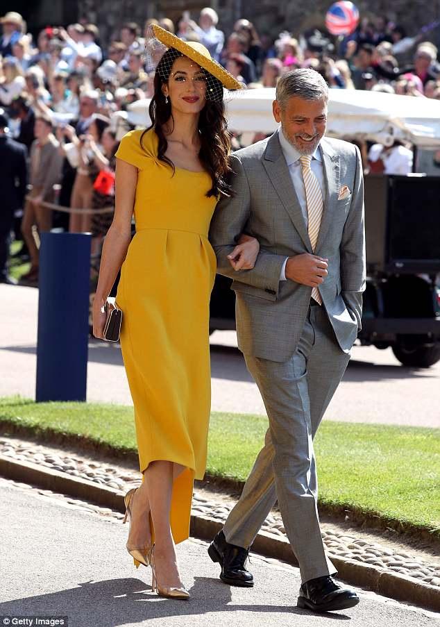 Amal Clooney Stella McCartney goldenrod yellow dress royal wedding