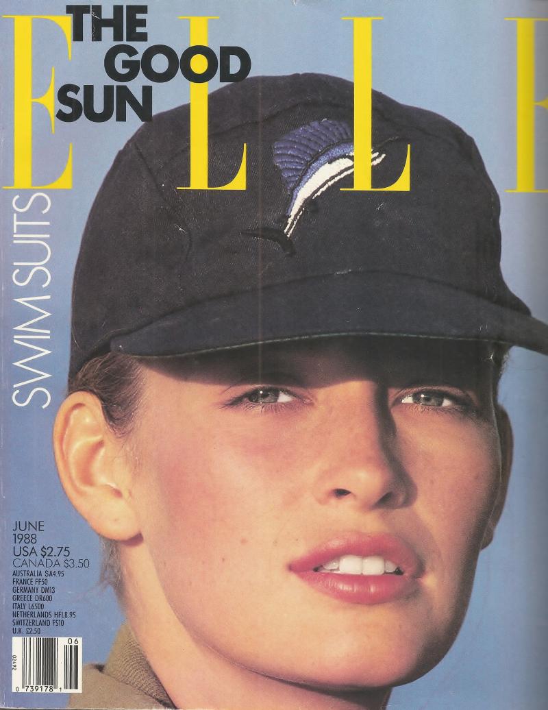 Elle June 1988 cover