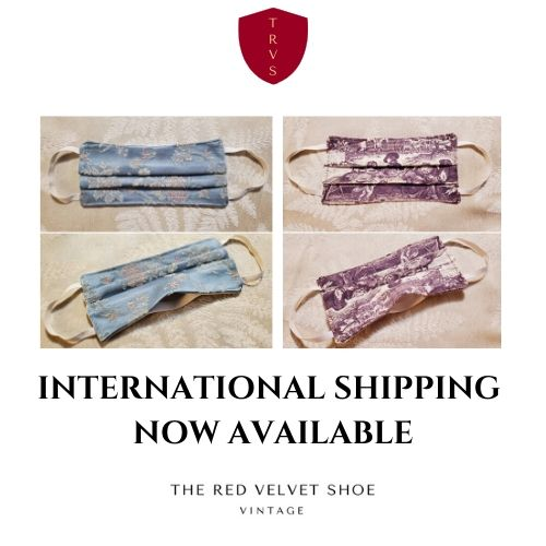 International shipping fabric face masks by the red velvet shoe