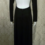 Vintage 1970s Mr. Boots Limited Edition plunging back backless black dress gown mireille darc style (4)