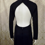 Vintage 1970s Mr. Boots Limited Edition plunging back backless black dress gown mireille darc style (3)