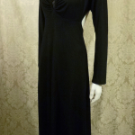 Vintage 1970s Mr. Boots Limited Edition plunging back backless black dress gown mireille darc style (11)