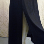 Vintage 1970s Mr. Boots Limited Edition plunging back backless black dress gown mireille darc style (15)