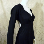 Vintage 1970s Mr. Boots Limited Edition plunging back backless black dress gown mireille darc style (8)