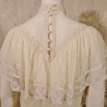Vintage 1970's Gunne Sax by Jessica McClintock High Neck Ivory Lace Victorian Style Lawn Party Wedding Dress (14)
