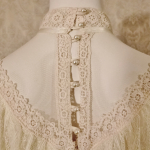 Vintage 1970's Gunne Sax by Jessica McClintock High Neck Ivory Lace Victorian Style Lawn Party Wedding Dress (15)