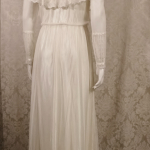 Vintage 1970's Gunne Sax by Jessica McClintock High Neck Ivory Lace Victorian Style Lawn Party Wedding Dress (17)