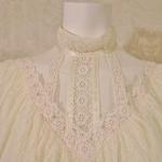 Vintage 1970's Gunne Sax by Jessica McClintock High Neck Ivory Lace Victorian Style Lawn Party Wedding Dress (10)