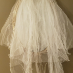 Rare 1940's Bridal Ensemble Ivory Lace Wedding Dress Cathedral Train  Matching Lace Headpiece  Ivory Satin Shoes  (1)