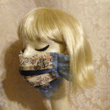 Lady of Leisure elegant fancy pretty fashion face mask custom made demi couture hand sewn vintage fabric by the red velvet shoe (7)
