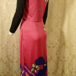 Documented Louis Feraud Early 1970's Mod Hot Pink Floral Print Maxi Skirt & Vest Set  (1)