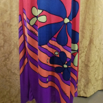 Documented Louis Feraud Early 1970's Mod Hot Pink Floral Print Maxi Skirt & Vest Set  (7)