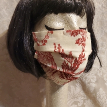 Made in USA Face Masks The Red Velvet Shoe Vintage Schumacher Colonial Williamsburg Red Toile (1) (360x640)