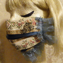 Lady of Leisure elegant fancy pretty fashion face mask custom made demi couture hand sewn vintage fabric by the red velvet shoe (8)