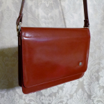 Vintage 1970s Lanvin Paris shoulder bag cross body purse maroon red  (5)
