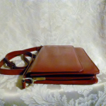 Vintage 1970s Lanvin Paris shoulder bag cross body purse maroon red  (13)