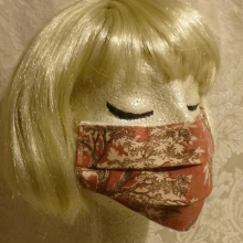 Made in USA Face Masks The Red Velvet Shoe Vintage Copper Waverly Toile 4