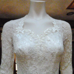 Rare 1940's Bridal Ensemble Ivory Lace Wedding Dress Cathedral Train  Matching Lace Headpiece  Ivory Satin Shoes  (30)