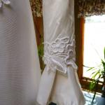 1970s vintage high neck long sleeve empire waist wedding dress gown (7)
