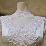 1970s vintage high neck long sleeve empire waist wedding dress gown (6)