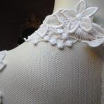 1970s vintage high neck long sleeve empire waist wedding dress gown (4)