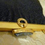 Vintage 1950s Whiting & Davis Black Diamond Beaded Mesh purse handbag (6)