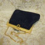 Vintage 1950s Whiting & Davis Black Diamond Beaded Mesh purse handbag (4)