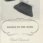 Vintage 1950s Whiting & Davis Black Diamond Beaded Mesh purse handbag (3)
